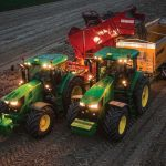 John Deere tractor using Machine Sync technology