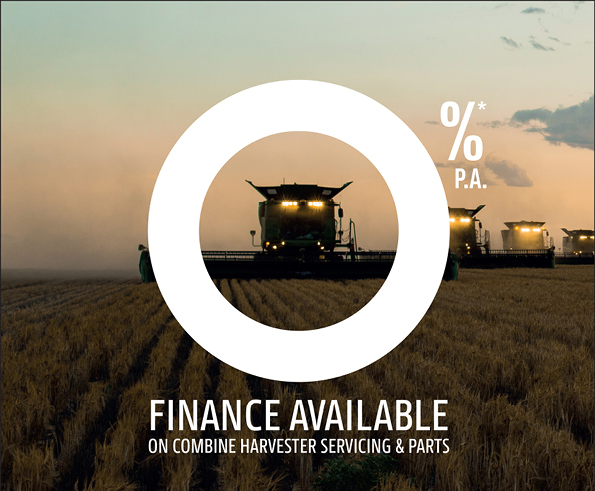 Zero percent finance available on Combine Harvester servicing & parts